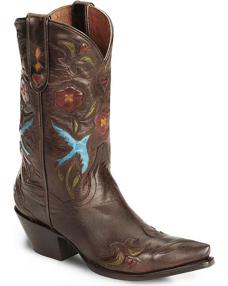 Dan Post Blue Bird Wingtip Cowgirl Boot - Snip Toe