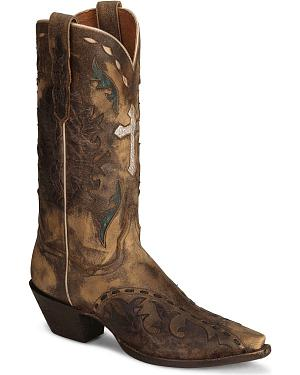 Dan Post Anthem Cross Vintage Cowgirl Boot - Snip Toe