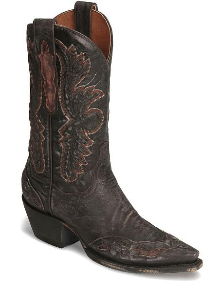 Dan Post Tobacco Betty Wingtip Cowgirl Boot - Snip Toe