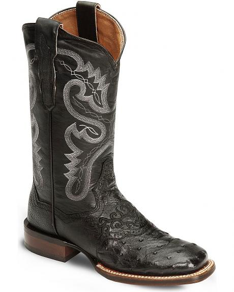 Dan Post Junction Ostrich Cowgirl Boots - Wide Square Toe