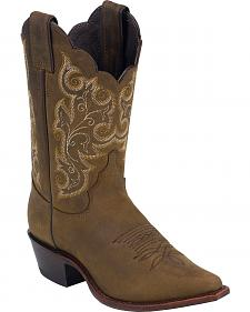 Justin Bay Apache Western Cowgirl Boots - Snip Toe