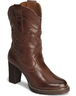 Roper Rock Star Shorty Cowgirl Boot - Round Toe