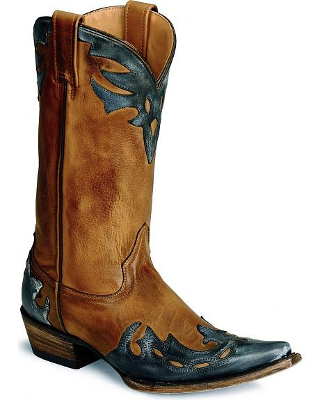 Stetson Burnished Tan Wingitp Cowgirl Boot - Snip Toe