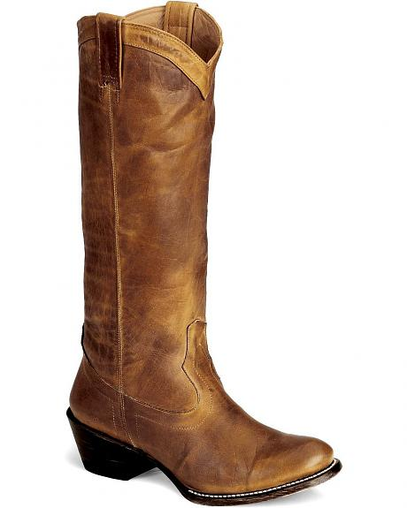 Stetson Hand Burnished Ficcini Riding Boots - Round
