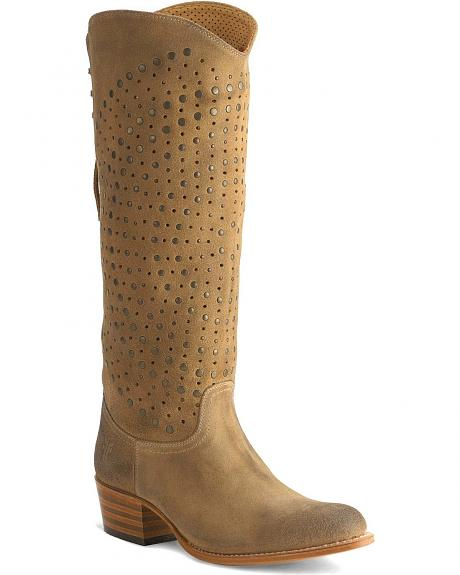Frye Women's Deborah Back Lace Studded Boots - Round Toe