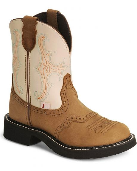 Justin Gypsy Bay Apache Cowgirl Boot - Round Toe