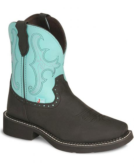 Justin Gypsy Black Cowgirl Boot - Square Toe
