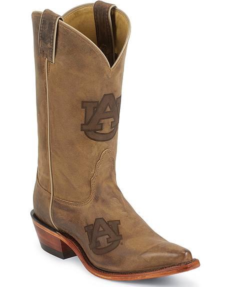 Nocona Auburn Tigers College Boots - Snip Toe
