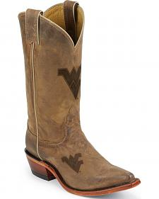 Nocona West Virginia Mountaineers College Boots - Snip Toe