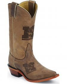 Nocona University of Missouri Tigers College Boots - Snip Toe