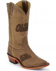 Nocona University of Mississippi Rebels College Boot - Snip