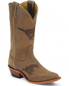 Nocona Southern Methodist University Mustangs College Boot - Snip