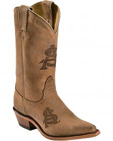 Nocona Arizona State University College Cowgirl Boots - Snip Toe