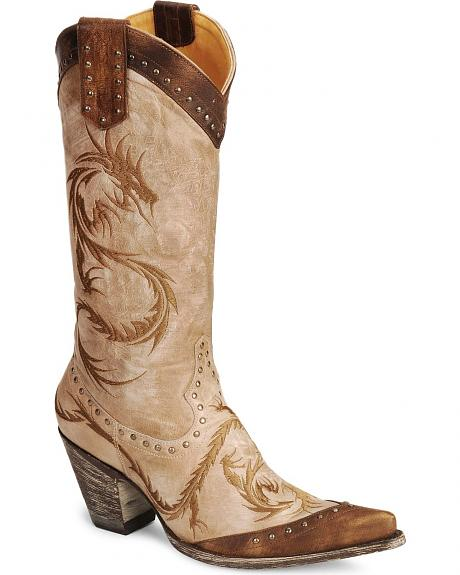 Old Gringo Embroidered Dragon Cowgirl Boots - Snip Toe