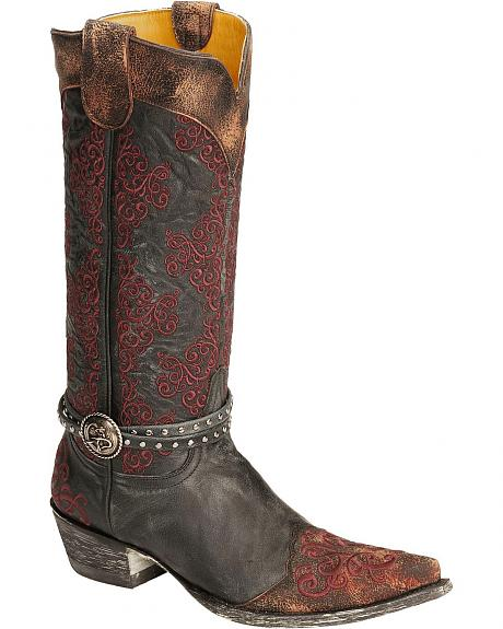 Old Gringo Inese Harness Cowgirl Boots - Pointed Toe