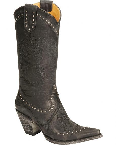Old Gringo Dragon Embroidered Cowgirl Boots - Pointed Toe