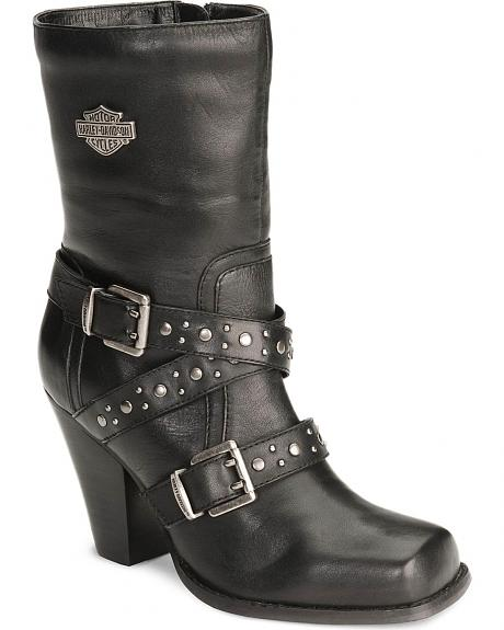 Harley Davidson Women's Obsession Harness Boots - Square Toe