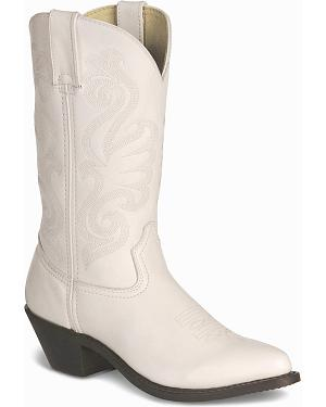 Durango Wild White Cowgirl Boots - Pointed Toe