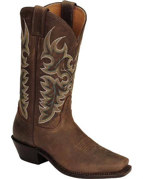 Nocona Chocolate Calfskin Legacy Cowgirl Boots - Square Toe