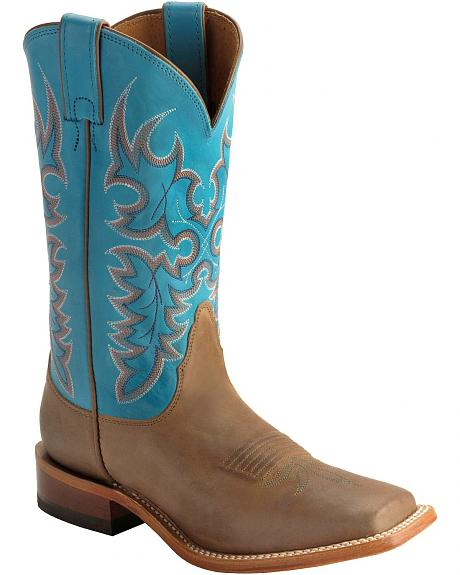 Nocona Embroidered Shaft Boots - Square Toe