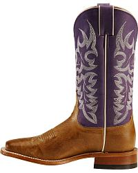 Nocona Arizona Grape Cowgirl Boots - Wide Square Toe at Sheplers