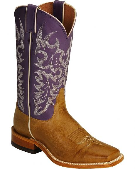 Nocona Arizona Grape Cowgirl Boots - Wide Square Toe