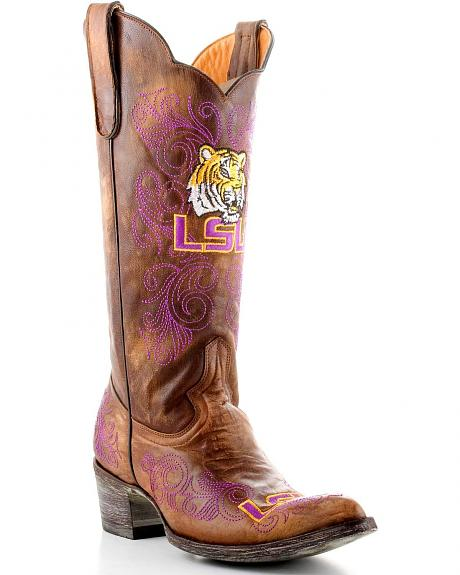 Louisiana State University Gameday Cowboy Boots - Pointed Toe