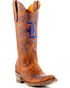 Rice University Gameday Cowboy Boots - Pointed Toe