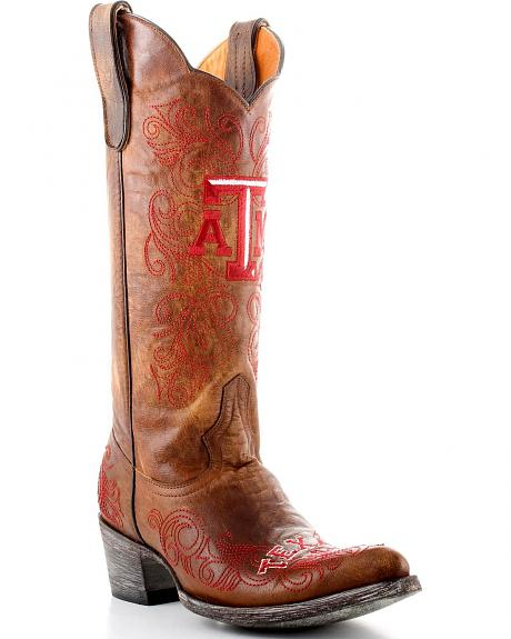 Texas A&M Reveille Gameday Cowboy Boots - Pointed Toe