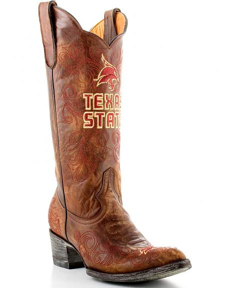 Texas State University Gameday Cowboy Boots - Pointed Toe