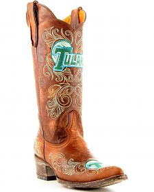 Tulane University Gameday Cowboy Boots - Pointed Toe