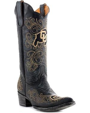 University of Colorado Gameday Cowboy Boots - Pointed Toe