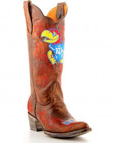 Gameday University of Kansas Cowgirl Boots - Pointed Toe