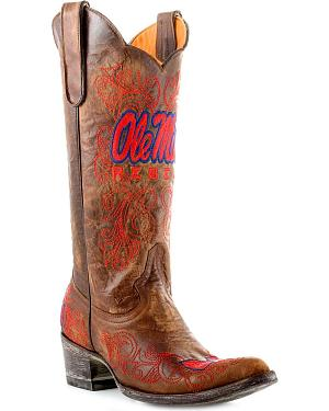 University of Mississippi Gameday Cowboy Boots - Pointed Toe