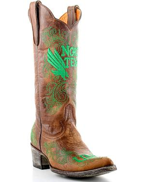 Gameday University of North Texas Cowgirl Boots - Pointed Toe