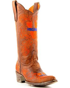 University of Virginia Gameday Cowboy Boots - Pointed Toe