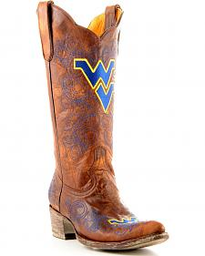 West Virginia University Gameday Cowboy Boots - Pointed Toe
