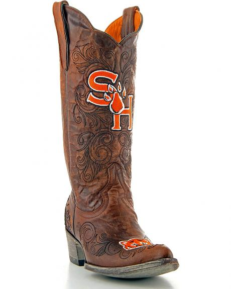 Sam Houston State Gameday Cowboy Boots - Ponted Toe