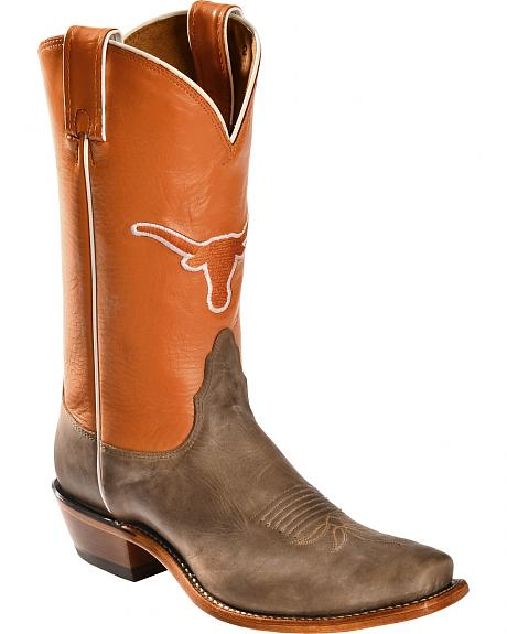 Nocona Women's Texas Longhorns College Boots - Snip Toe