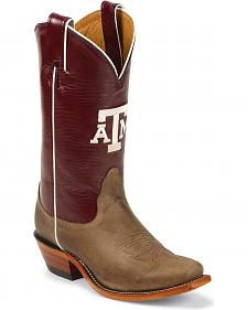Nocona Texas A&M College Cowgirl Boots - Snip Toe