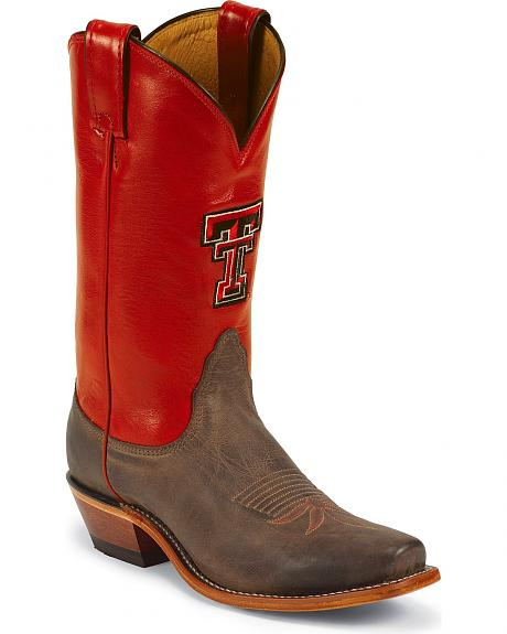 Nocona Texas Tech College Cowgirl Boots - Snip Toe