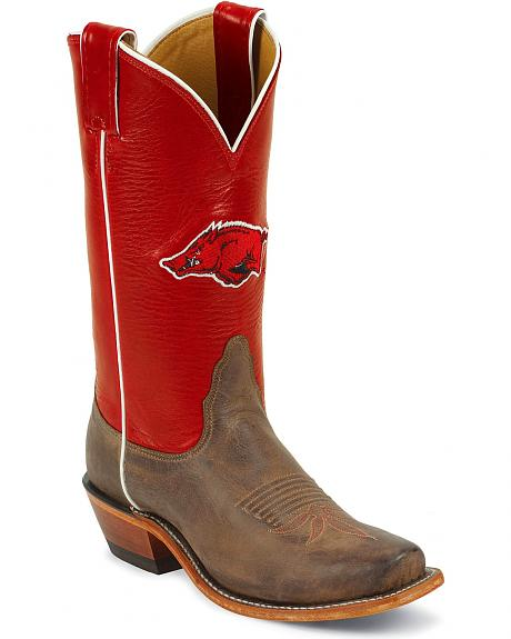 Nocona Women's University of Arkansas College Boots - Snip