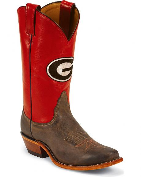 Nocona Women's University of Georgia College Boots - Snip Toe