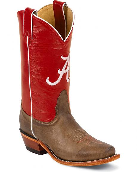 Nocona Women's University of Alabama College Boots - Snip Toe