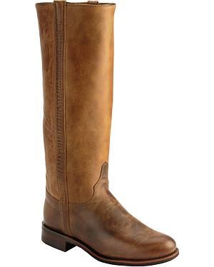 "Justin Santa Fe 15"" Roper Riding Boots - Round Toe"