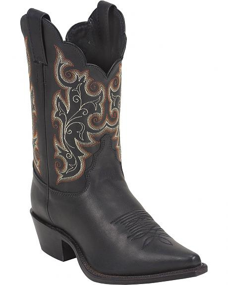 Justin Short Calfskin Cowgirl Boots - Pointed Toe