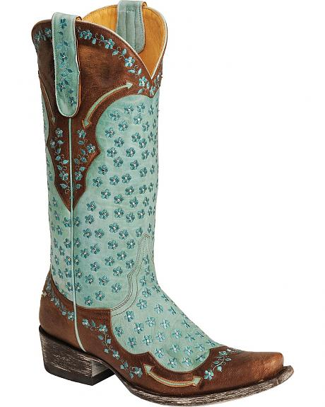 Old Gringo Tabetha All Over Flower Design Cowgirl Boots - Square Toe