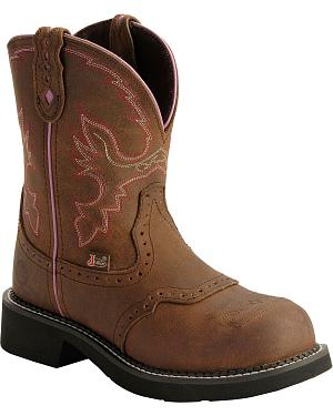 Justin Gypsy Work Boots - Round Steel Toe