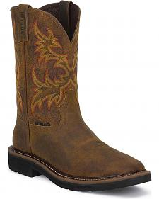 Justin Stampede Work Boots - Square Steel Toe