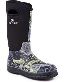 Roper Neoprene Shaft Rubber Boots - Round Toe